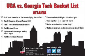 UGA vs. Georgia Tech Bucket List