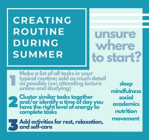#BeWellUGA at Home: Finding a Routine During the Summer