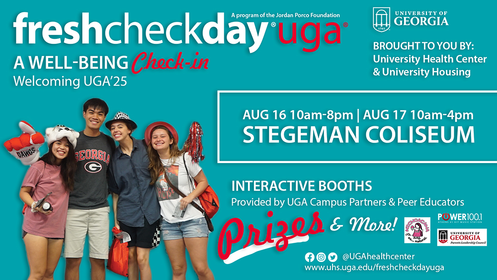 A well-being check-in, welcoming UGA'25