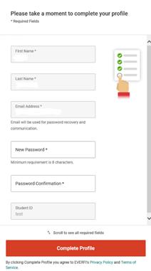 Screenshot of Everfi login prompt